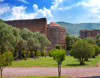 Villa Adriana- ruins of an imperial country house in Tivoli near Rome.Landscape in a sunny day Stock Photos
