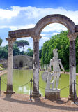Villa Adriana in Tivoli. Close up in a sunny day Stock Photography