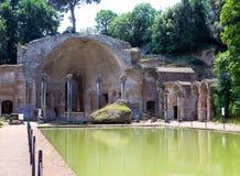 Villa Adriana in Tivoli near Rome .Cityscape in a sunny day. Villa Adriana- ruins of an imperial Adrian country house in Tivoli near Rome Stock Images