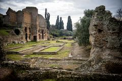 Villa Adriana, Tivoli. Rome. Italy. Villa Adriana was an extra-urban imperial residence from the 2nd century onwards. Wanted by the emperor Hadrian 117-138, it Royalty Free Stock Images