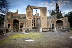 Villa Adriana, Tivoli rome l'Italie photo stock