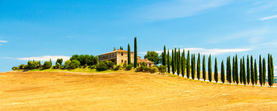 Villa Agroturismo Toscanië Stock Foto's