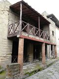 Villa at the ancient Roman city of Herculaneum Stock Photos