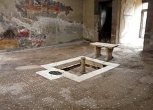 Villa at the ancient Roman city of Herculaneum Stock Image