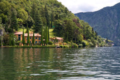Villa And Park On Lake Como, Italy Royalty Free Stock Image