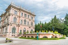 Villa Andrea Ponti, Varese, Italien royaltyfria foton