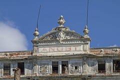 Villa Angst in Bordighera. Villa anxiety morbid ruins of a grand hotel in Bordighera Stock Image