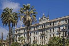 Villa Angst in Bordighera. Villa anxiety morbid ruins of a grand hotel in Bordighera Royalty Free Stock Photos
