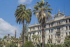 Villa Angst. Morbid ruins of a grand hotel in Bordighera Royalty Free Stock Photo