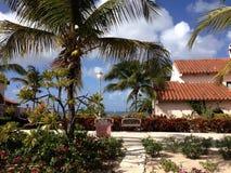Villa Anguilla delle palme dell'hotel Fotografie Stock Libere da Diritti