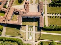 Villa Arconati, Castellazzo, Bollate, Milan, Italie Vue aérienne de villa Arconati Images libres de droits