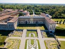 Villa Arconati, Castellazzo, Bollate, Milan, Italie Vue aérienne de villa Arconati Photo stock