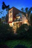 Villa au crépuscule Photos stock