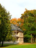 Villa in autumn park Royalty Free Stock Photo