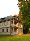 Villa in autumn park Stock Photos