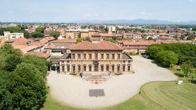 Villa Bagatti Valsecchi, villa, aerial view, eighteenth century, Italian villa, Varedo, Monza Brianza, Lombardy Italy. 16-05-2017 royalty free stock photos
