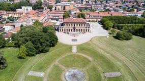 Villa Bagatti Valsecchi, villa, luchtmening, 18de eeuw, Italiaanse villa, Varedo, Monza Brianza, Lombardije Italië Royalty-vrije Stock Fotografie