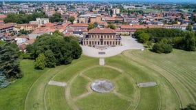 Villa Bagatti Valsecchi, villa, luchtmening, 18de eeuw, Italiaanse villa, Varedo, Monza Brianza, Lombardije Italië Stock Afbeeldingen