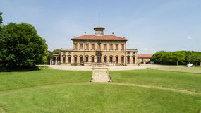Villa Bagatti Valsecchi, villa, luchtmening, 18de eeuw, Italiaanse villa, Varedo, Monza Brianza, Lombardije Italië Royalty-vrije Stock Foto's