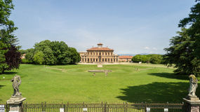 Villa Bagatti Valsecchi, villa, luchtmening, 18de eeuw, Italiaanse villa, Varedo, Monza Brianza, Lombardije Italië Stock Foto's
