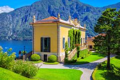 Villa Balbianello, Como lake, Italy Royalty Free Stock Images