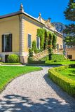 Villa Balbianello, Como lake, Italy. Stock Photography