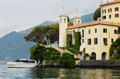 Villa Balbianello on lake Como Royalty Free Stock Images