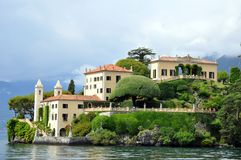 Villa balbianello at Lenno lake como Stock Photo