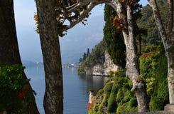 Villa Balbianello op Meer Como, Italië stock fotografie