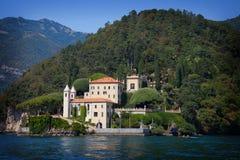 Villa Balbianello op Meer Como, Italië royalty-vrije stock afbeelding