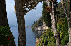 Villa Balbianello sul lago Como, Italia fotografia stock