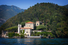 Villa Balbianello sur le lac Como, Italie image libre de droits