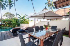 Villa Bali de cinq étoiles Photographie stock libre de droits