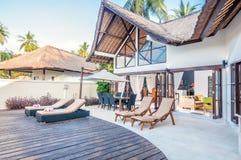 Villa Bali för fem stjärna Arkivfoto