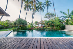 Villa Bali för fem stjärna Arkivbild