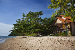 Villa on the beach Royalty Free Stock Images