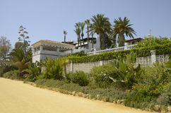 Villa in the beach promenade Royalty Free Stock Images