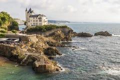 Villa Beltza, Biarritz, Frankrijk stock afbeeldingen