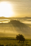 Villa Belvedere in San Quirico d'Orcia. Picture was taken early spring morning. Italy, Tuscany Royalty Free Stock Photography