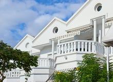 Villa bianca Immagini Stock