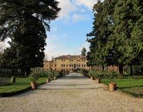 Villa Bissari Curti. Vicenza, Italy. Villa Bissari Curti. Venetian villa in the city of Vicenza, Italy Royalty Free Stock Photography
