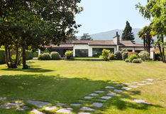 Villa blanche externe Images stock