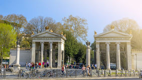 Villa Borghese entrance Royalty Free Stock Photography