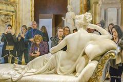 Villa Borghese Gallery Pauline Bonaparte Canova Masterpiece. ROME, ITALY, JANUARY - 2018 - Paulina bonaparte sculpture, a famous canova masterpiece located at royalty free stock image