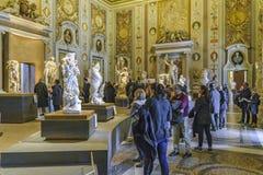 Villa Borghese Gallery. ROME, ITALY, JANUARY - 2018 - Interior scene with people at Villa Borghese gallery, Rome, Italy royalty free stock photo