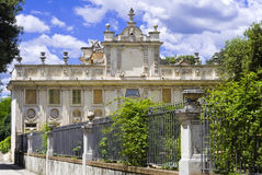Villa Borghese in Rome. A building insiide the Villa Borghese, Rome, Italy royalty free stock photography