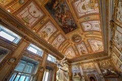 Villa Borghese - Rome, Italy. Rome, Italy - March 25, 2018: Marble statues in Villa Borghese in Rome, Italy royalty free stock photography