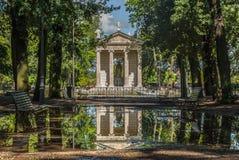 Villa borghese rome. Villa Borghese in Rome reflection royalty free stock photos