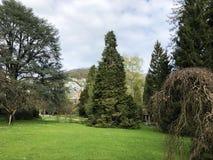 Villa Boveri Park or Der Garten der Villa Boveri or Landschaftsgarten Parkanlage der Villa Boveri, Baden. Canton of Aargau, Switzerland stock photo