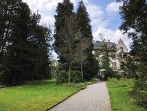 Villa Boveri Park or Der Garten der Villa Boveri or Landschaftsgarten Parkanlage der Villa Boveri, Baden. Canton of Aargau, Switzerland stock photos